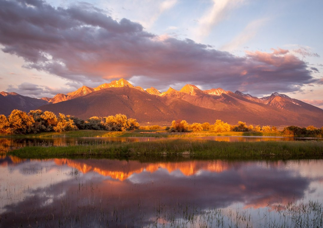 Amazing sunset in Ninepipes N.M., near Glacier NP