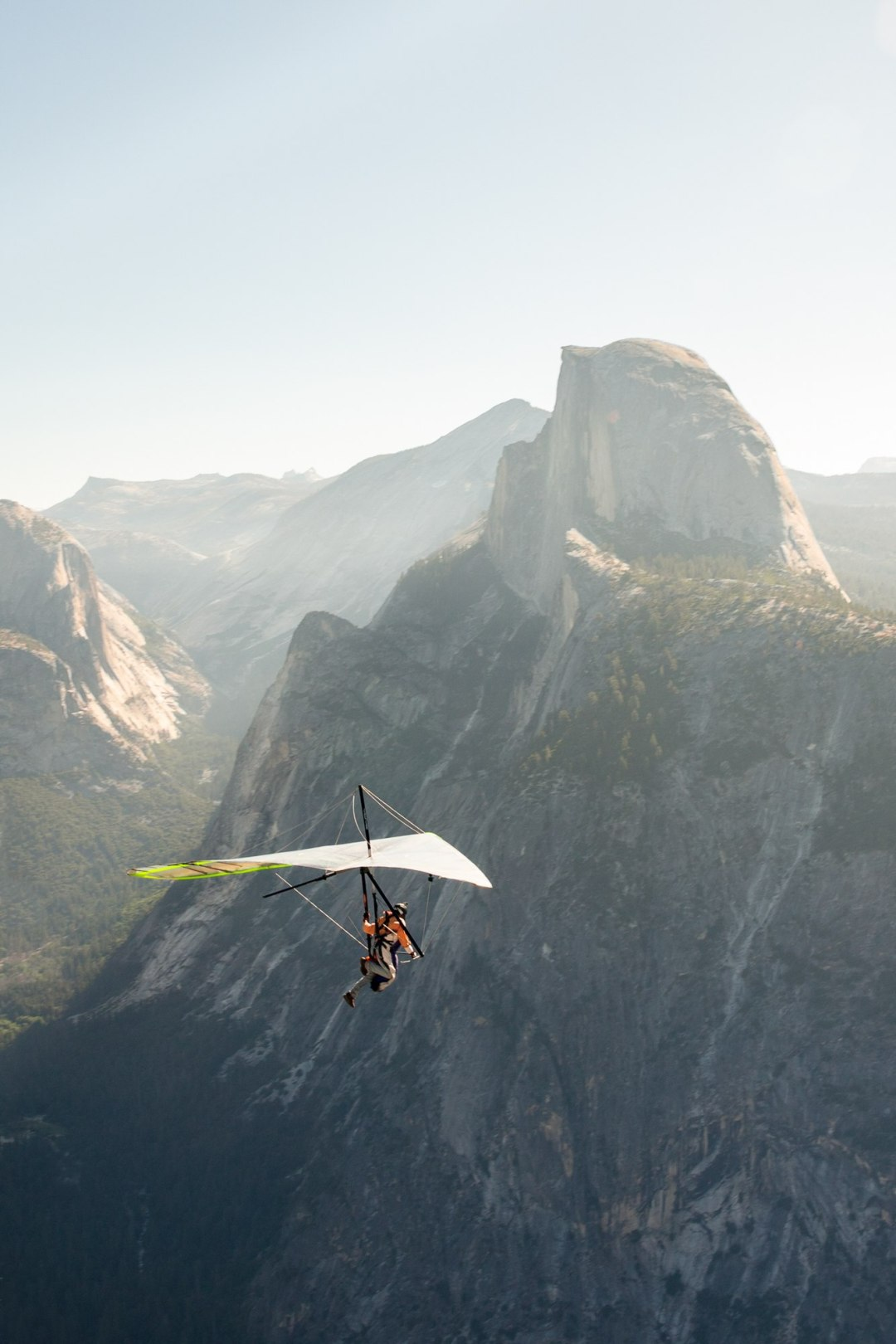 Caught this hang glider taking off on a beautiful morning in Yosemite.