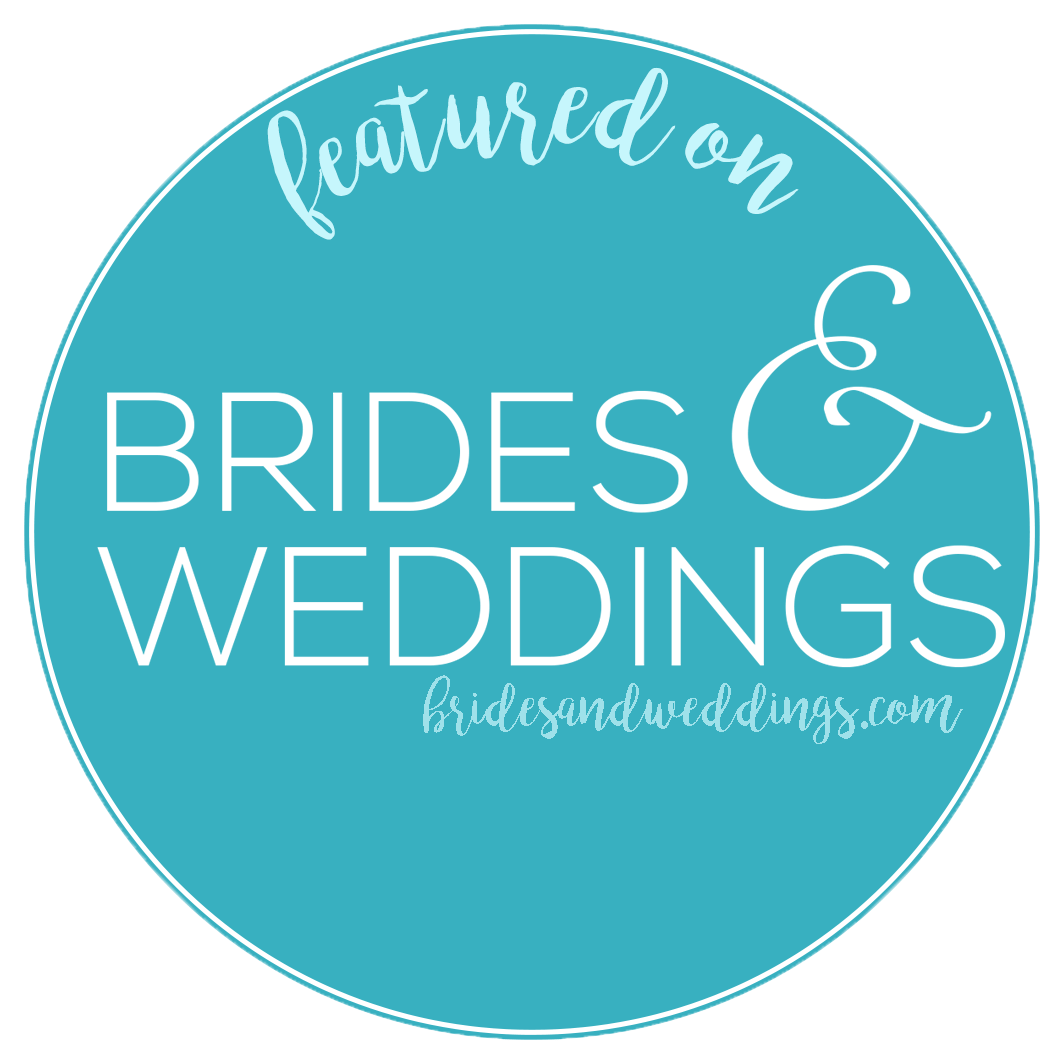 Featured on Brides & Weddings badge for adventure elopement