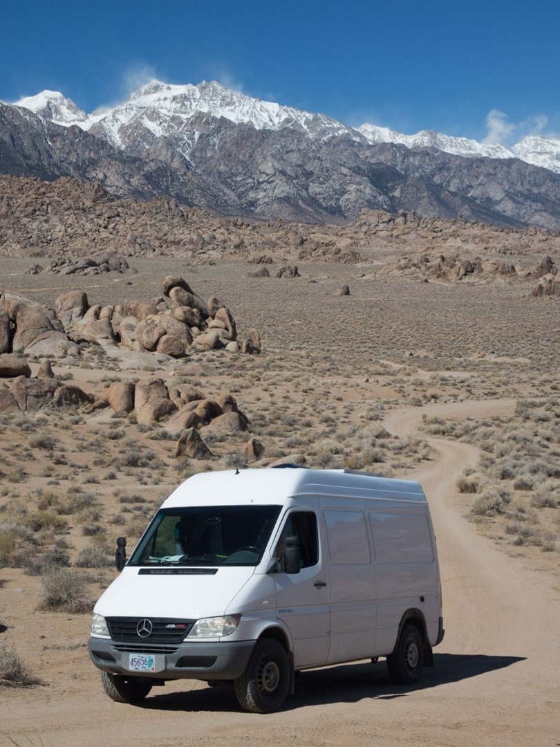 Jorje Blanco, our home and headquarters of Scenic Vows, living it up in the South-Eastern Sierra