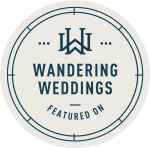 Featured on Wandering Weddings badge