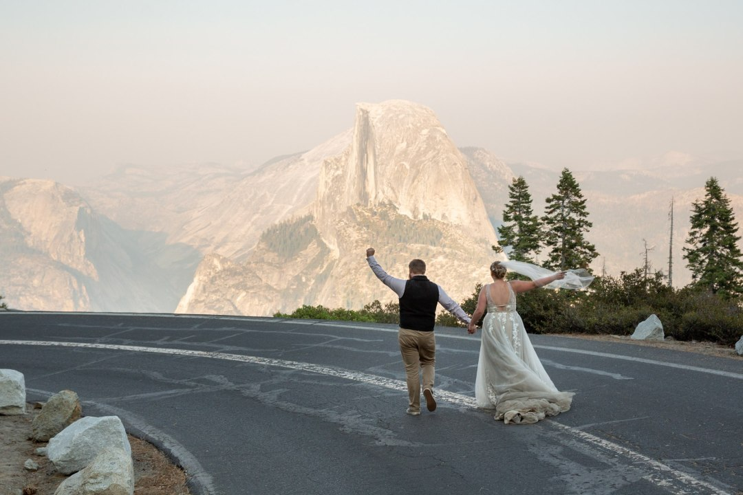 Celebrating an awesome Yosemite adventure wedding with Half Dome!
