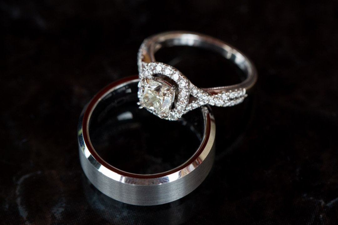 Close up photo of wedding rings before a Yosemite Elopement