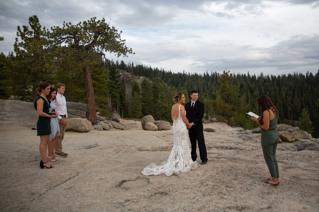 Becky, of Scenic Vows, officiates a perfect Yosemite Wedding at Taft Point