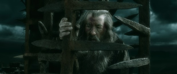 Gandalf (Ian McKellen) in the clutches of a dark force.