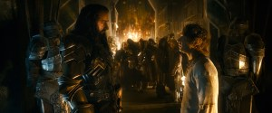 Thorin (Richard Armitage) and Bilbo (Martin Freeman) in a tense situation.