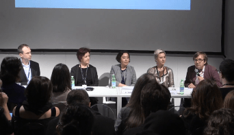 Panel at Esxcene in Milano organized with Bodo Kubartz: Barbara Herman, Rosella Caputo, Lisa Bonfatti