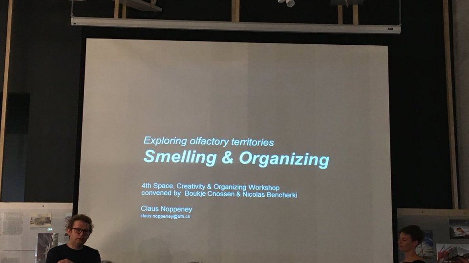 """Mindblowing"" Workshop on Smelling & Organizing at Tallinn #offegos2018"