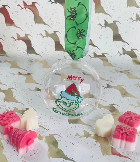 Merry Grinchmas Face Christmas Bauble