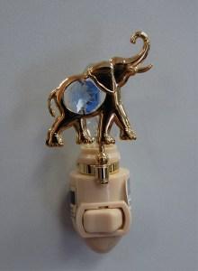 Gold Elephant Night Light