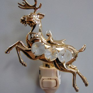 Gold Reindeer Night Light