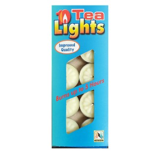 A pack of 10 tealights