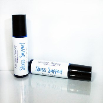 stress support aromatherapy rollerball, chronic fatigue, adrenal system, stress management, Stress Support, chronic stress