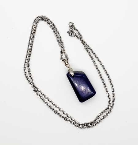 lapis lazuli necklace, drop pendant,