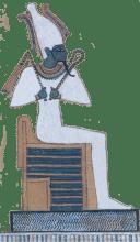 Osiris seated on a throne