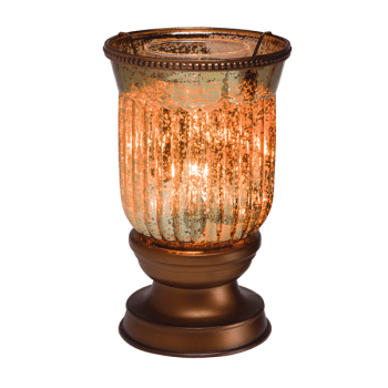 amber fluted scentsy warmer