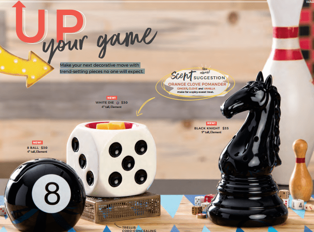 Scentsy Game Warmers Chess Knight Dice 8 Ball