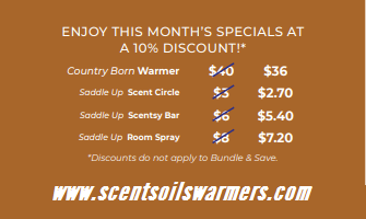 SCENTSY COWBOY WARMER & SCENT PRICE MAY 2019