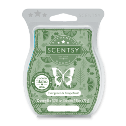 evergreen and grapefruit scentsy wax bar