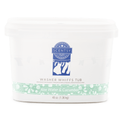 Scentsy Washer Whiffs Tub Aloe Water Cucumber