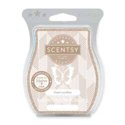 sheer leather scentsy wax bar