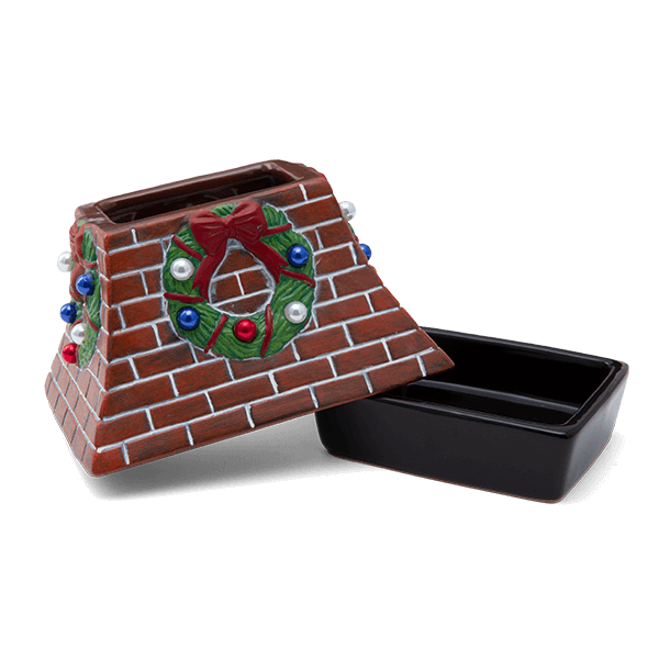 Holiday Hearth Scentsy Warmer Dish & Lid
