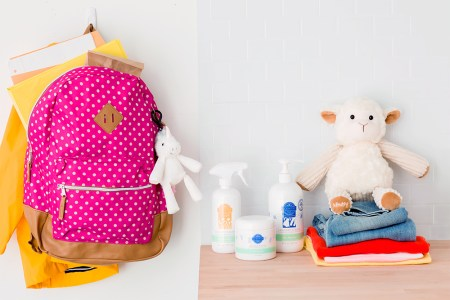 Photo of school supplies with Scentsy products