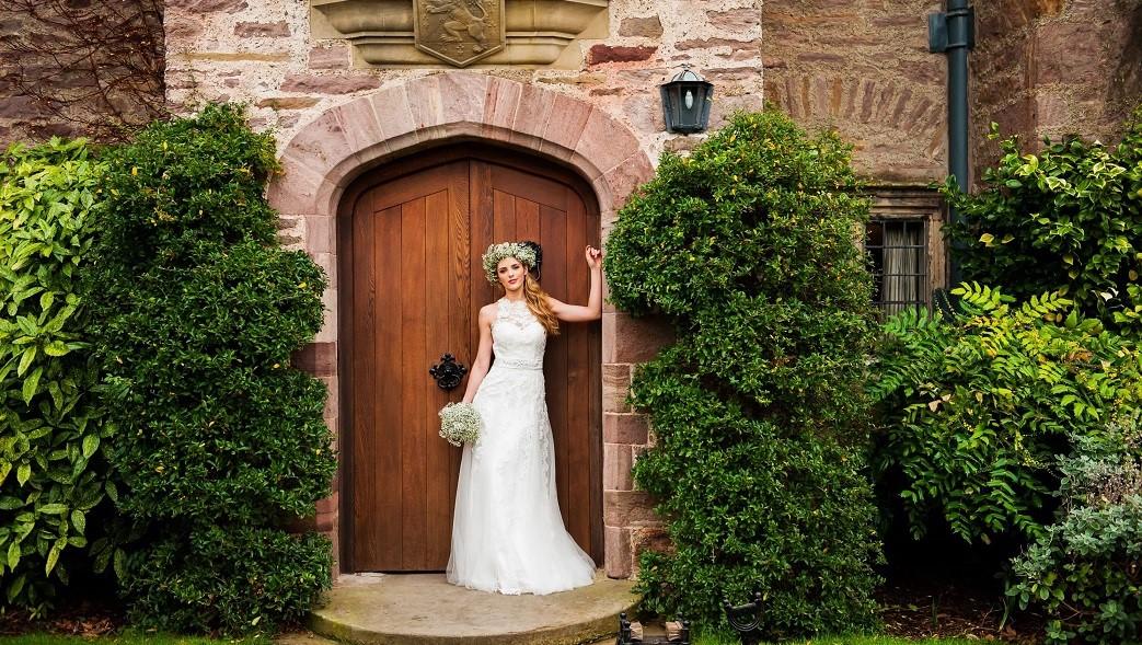 bride wedding bodysgallen hall