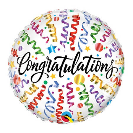 Helium Balloon - Congratulations