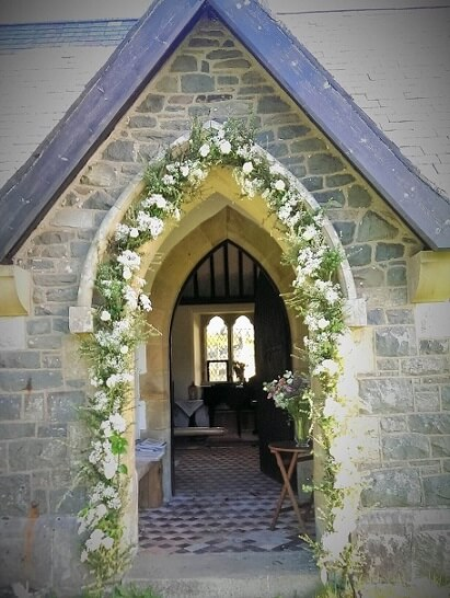 Wedding flower archway