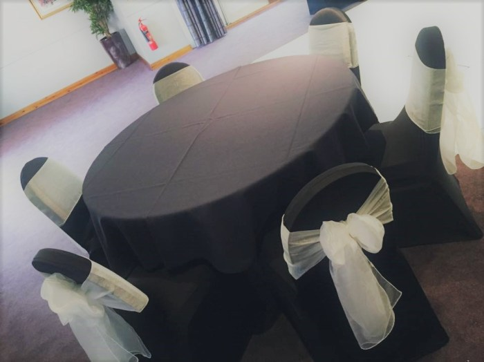 Black Chair Table Covers