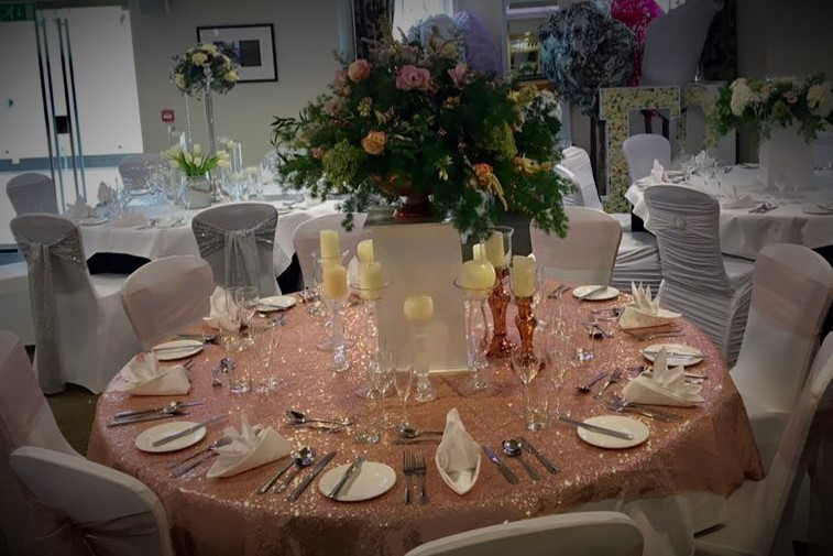 Gold Chair Table Covers