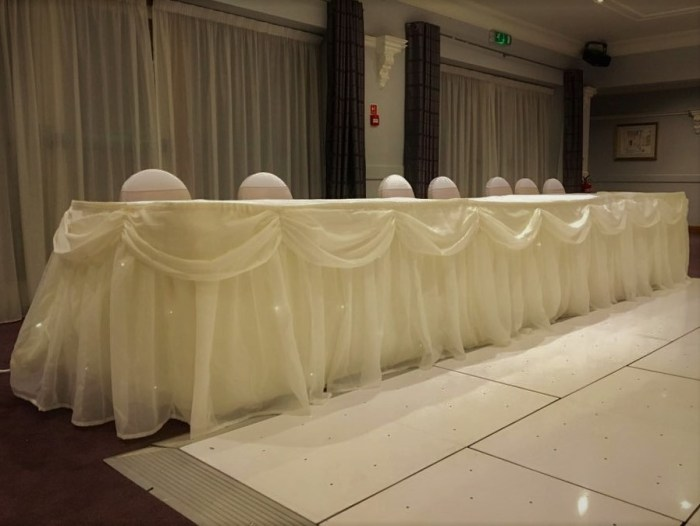 Top Table Cover Twinkle Backdrop