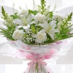 White Mothers Day Hand Tied