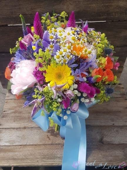 Vibrant Wedding Bride Bouquet