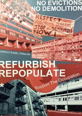 Aylesbury Estate demo flyer | Image: Royal Academy of Arts