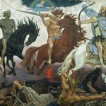 Painting of the four horsemen of the apocalypse by Viktor Vasnetsov