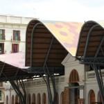 Mercat Santa Catarina bears striking resemblance to Scottish Parliament, both designed by Enric Miralles