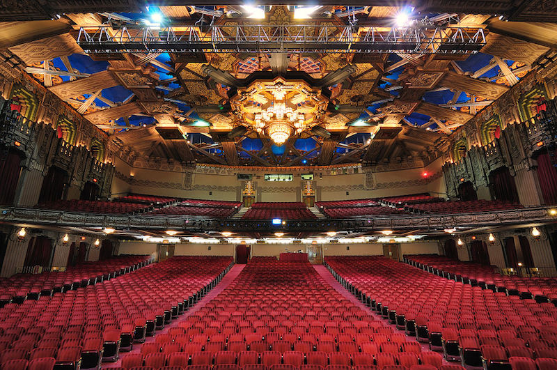 View from the stage of the Pantages Theatre in Hollywood, CA where Stop Making Sense was made. By Christian Dionne in the public domain