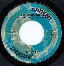 Cover of September Gurls: fair use licence via Wikimedia