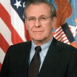 Donald Rumsfeld as Secretary of Defense 2001: United States Army image in the public domain