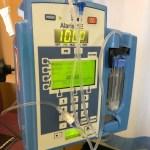 NHS hospital bedside monitor