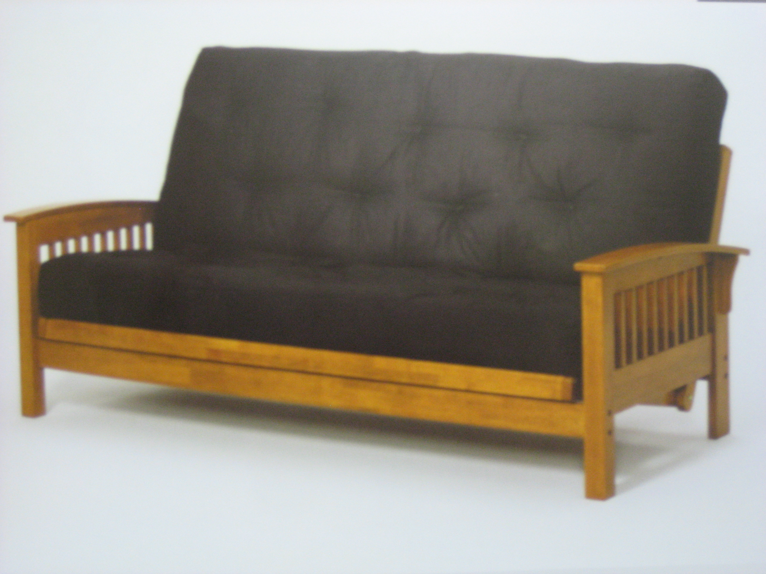 wooden futon chairs ergonomic chair reddit 4487 frame 4485mb black mattress