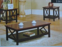 3361 Coffee Table + 2 End Tables Set