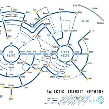 Star Citizen Fan Made Transit Style Star Maps