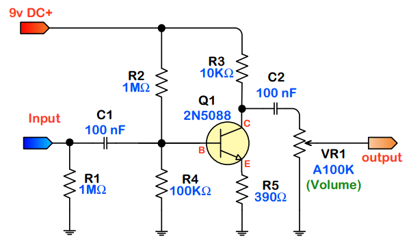 Simple Transistor Guitar Schematics On Wiring Diagram For Guitar Amp