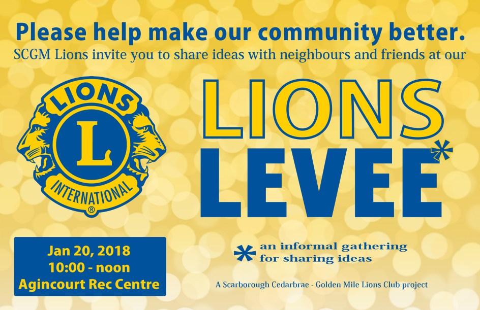 Image of the Lions Levee invitation postcard