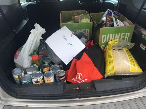 Food Drive trunkful