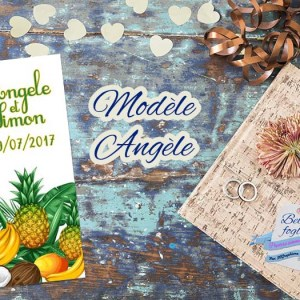 faire-part mariage tropical fruit exotique