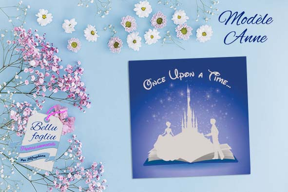 faire-part mariage princesse chateau disney